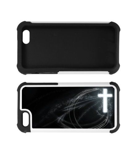 Cross Frees Christian- Best Rubber 2 in 1 cell phone case for iPhone 5, iPhone 5S - WHITE at Amazon.com