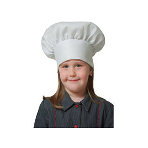 Dress Up America Halloween Seasonal Party Apparel White Chef Hat - Kids