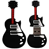 8 GB Novelty XYLO-FLASH Guitar Keyring USB 2.0 Memory Stick / Pen Storage Drive Compatible With PC / Mac.