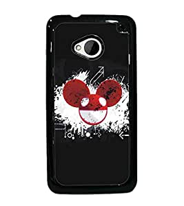 PrintDhaba Abstract Image D-5109 Back Case Cover for HTC ONE M7 (Multi-Coloured)