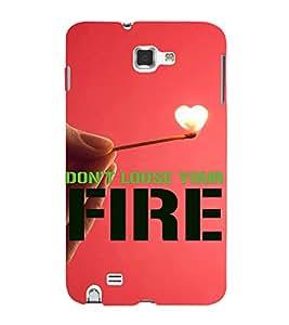 PrintVisa Motivational Quotes Design 3D Hard Polycarbonate Designer Back Case Cover for Samsung Galaxy Note 1