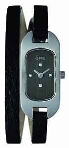 Opex - 390C1 - Ballerine - Montre Femme - Quartz Analogique - Cadran Noir - Bracelet Cuir Noir
