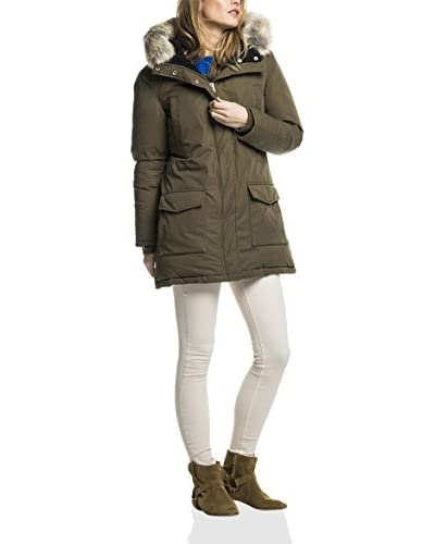 Scotch & Soda Maison Jacke Hooded Down Parka With Removable Fur Trim braun