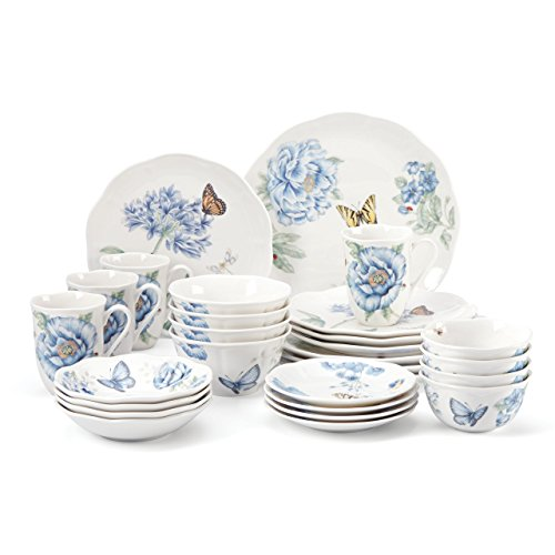 Lenox 865074 28 Piece Butterfly Meadow Blue Dinnerware Set