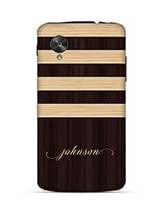 Wooden Coffee pattern johnson Google Nexus 5 case