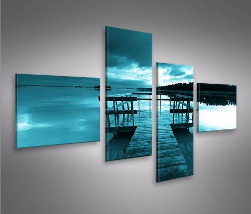 Bridge 4l natura quadri moderni intelaiati pronti da for Quadri salotto