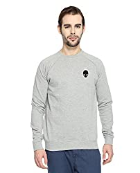 Adro Men's Round Neck Cotton Sweatshirt (Grey)