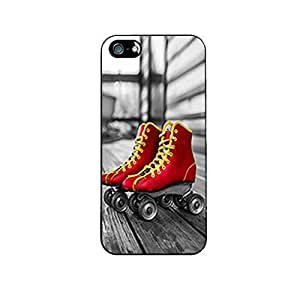 Vibhar printed case back cover for Apple iPhone 5 RedRetro
