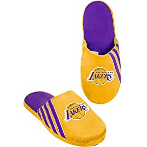 NBA 2012 Team Stripe Big Logo Slippers (Los Angeles Lakers, Extra Large 12-13)