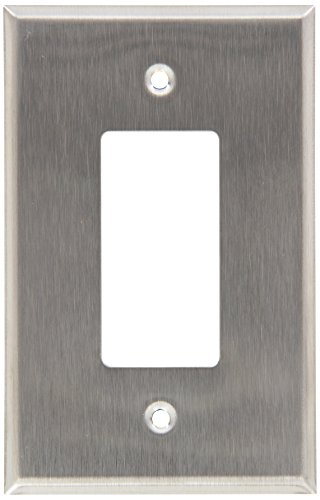 Morris 83740 430 Wall Plate, Oversize Decorative/GFCI, 1 Gang, Stainless Steel (Oversized Bushing compare prices)