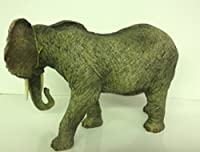 Large Standing African Elephant with tusks decorative Ornament