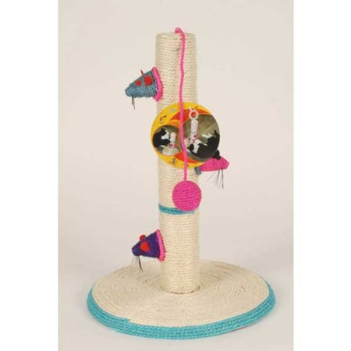KITTEN CAT SCRATCH POLE/POST ROPE SPOT PLAY CENTER CLIMBING TOY MOUSE CLAWS TREE by funky gadgets (Kitten Appliance compare prices)