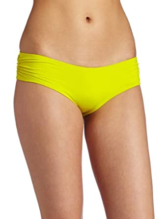 L*space Women's Sensual Solids Twiggy Bikini, Limon, Medium