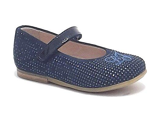 Liu Jo scarpe bambina, modello 21402, ballerina in camoscio con strass, colore blu