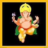 Digital Ganesh 02 Canvas Medium ( 30 In X 30 In )