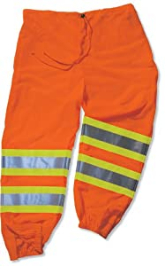 GLoWEAR 8911-IS Class-E Two-Tone Pant with Insect Shield, Orange, 4X-Large/5X-Large