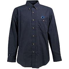Penn State Matrix Button Down Shirt (Check Pattern) by Antigua