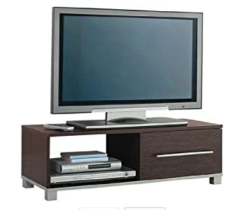 Buying Guide of  TV Entertainment Stand Dark Brown Wood Finish Cabinet