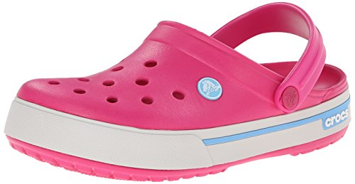 crocs Crocband - Zoccoli unisex -Rosa (Candy Pink/Bluebell 6EF), 38/39