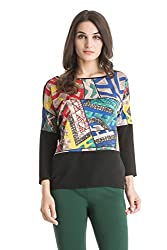 Kazo Women's Body Blouse Top (109112BLACKCm)