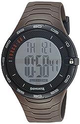 Sonata Digital Black Dial Mens Watch - 77041PP02J