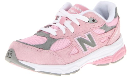 New Balance KJ990G Running Shoe (Big Kid), Pink/Grey, 6 M US Big Kid