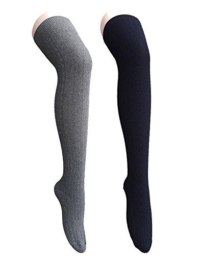 zando-damen-kniestrumpfe-one-size-gr-one-size-2-pairs-black-w-dark-grey
