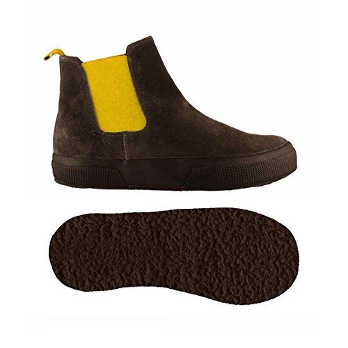 Stivaletti - 2318-suej - Bambini - DkChocolate-Yellow - 30