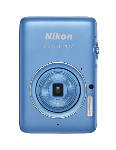Nikon COOLPIX S02 13.2 MP Digital Camera with 3x Zoom NIKKOR Glass Lens and Full 1080p HD Video (Blue)