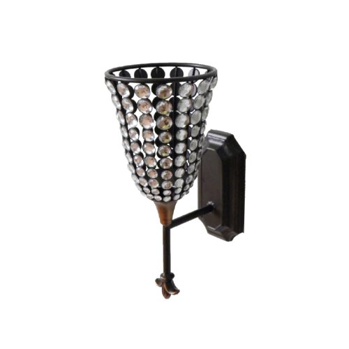 Home Source 400-22309 Decorative Metal Wall Sconce with Candle Holder, 15.35 by 8.27-Inch