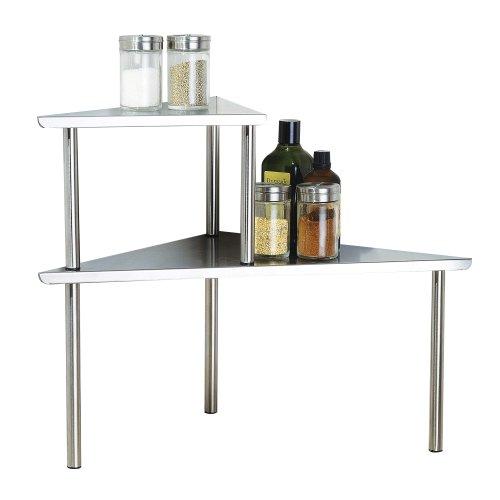 Kitchen Shelf Amazon: Cook N Home 2-Tier Corner Storage Shelf, Stainless Steel