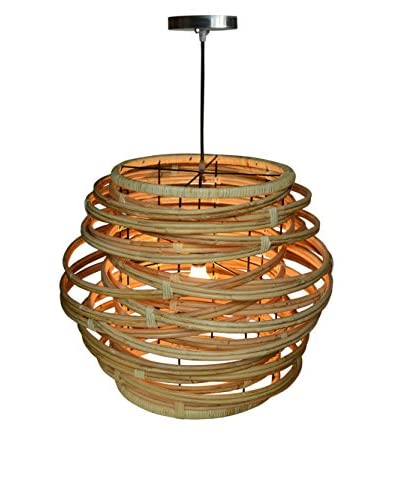 Jeffan Large Oceola Drum Hanging Lamp, Natural