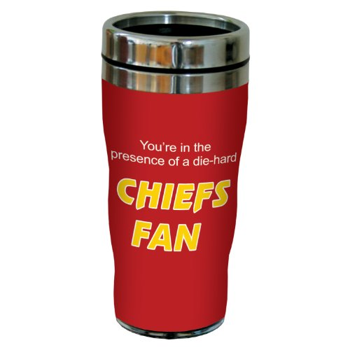 Tree-Free Greetings sg24123 Chiefs Football Fan Sip 'N Go Stainless Steel Lined Travel Tumbler, 16-Ounce at Amazon.com