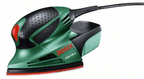 Bosch-DIY-Multischleifer-PSM-100-A-3-Schleifbltter-K-80-K-120-K-160-Koffer-100-W-Schwingzahl-26000-min-1-Schwingkreis--14-mm