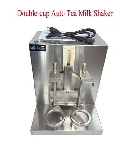 YiFun Double-cup Bubble Boba Milk Tea Shaker All Stainless Steel Auto Shaking Machine 110V / 60Hz 400r/min (Bubble Tea Shaker Machine compare prices)