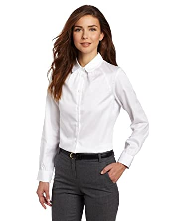 Pendleton women 39 s my best white shirt white 4 at amazon for Womens white button down shirt
