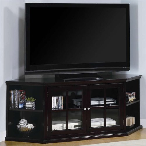 "Tremont 62"" Corner Tv Stand In Deep Dark Espresso"