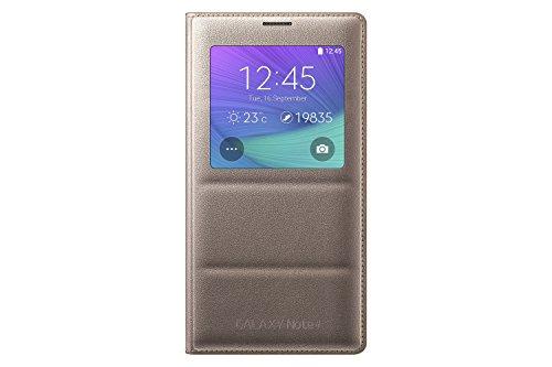 Samsung Galaxy Note 4 Case, S-View Flip Cover Folio Case - Bronze Gold