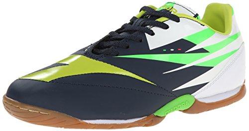Diadora DD-NA 2 R Indoor Soccer Shoe, Tuareg Blue/Fluorescent Yellow, 12.5 M US