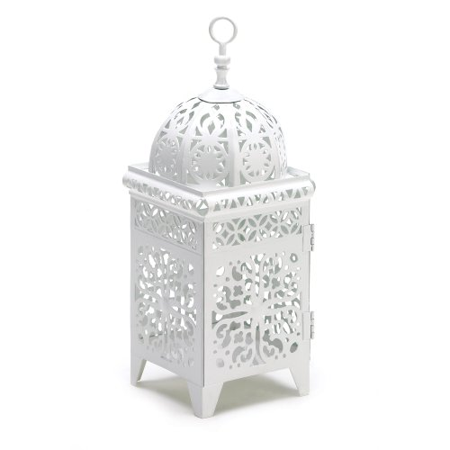 25 WHITE MOROCCAN WEDDING CANDLE LANTERN CENTERPIECES