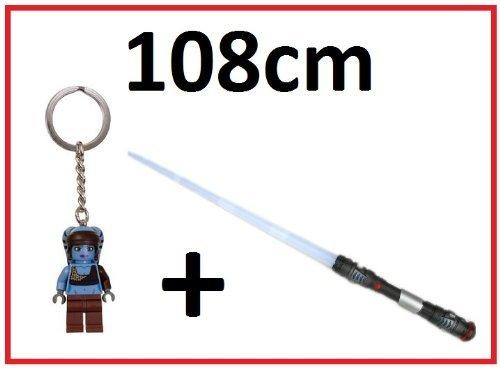 Laserschwert Lichtschwert 108cm mit Sound, Licht, Vibration + PLUS + LEGO Star Wars Aayla Secura Schlüsselanhänger jetzt bestellen