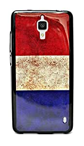 ECellStreet Exclusive Graphics Printed Soft Back Case Cover Back Cover for Xiaomi Mi4 Mi 4 -Tricolour