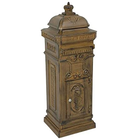 Mailbox Antique Art Nouveau in alluminio mailbox MOD6 casella di posta elettronica - colore marrone ruggine - Mailbox Co