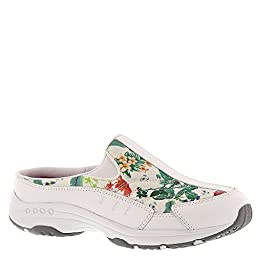 Easy Spirit Women's Traveltime Walking Shoes, Whte/Dk Green, Size 6.0