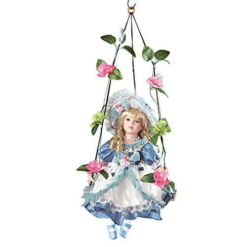 Collections Etc Swinging Savannah Porcelain Doll