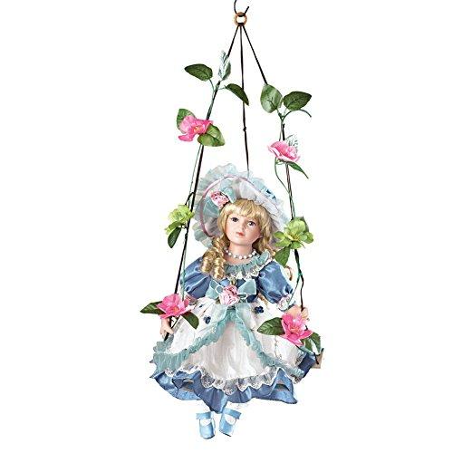 Collections Etc Swinging Savannah Porcelain Doll