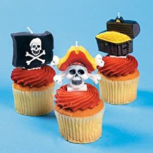 Click to buy Pirate Birthday Party Ideas: Pirate Cake Toppers candles from Amazon!