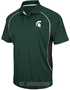 NCAA Michigan State Spartans Synthetic Playmaker Polo Shirt by Chiliwear by Chiliwear LLC