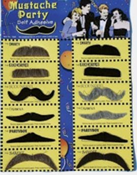 Franco American Novelty 23401-99 Assorted Party Moustache