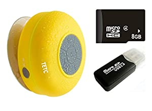 Waterproof Wireless Bluetooth Shower Speaker Handsfree Speakerphone Compatible with All Bluetooth Devices Iphone 10s and All Android Devices by TETC